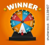 color lucky wheel template.... | Shutterstock .eps vector #551138407