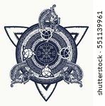 celtic cross tattoo art and t... | Shutterstock .eps vector #551139961