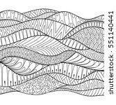 vector hand drawn stripe... | Shutterstock .eps vector #551140441
