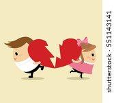 vector of teenage couple... | Shutterstock .eps vector #551143141