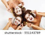 picture showing three friends... | Shutterstock . vector #551143789