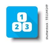 white 123 blocks icon on blue... | Shutterstock .eps vector #551144149