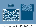 template   envelope for laser... | Shutterstock .eps vector #551145115
