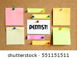 sticky note on cork board... | Shutterstock . vector #551151511