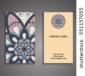 invitation  business card or... | Shutterstock .eps vector #551157055