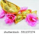 chinese gold ingots  yuen bao... | Shutterstock . vector #551157274