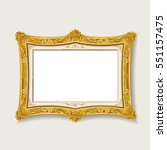 vintage gold picture  frame  | Shutterstock .eps vector #551157475