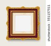 vintage gold picture  frame  | Shutterstock .eps vector #551157511