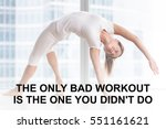 Fit Woman Doing Yoga Or Pilate...