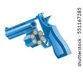 blue gun   Shutterstock .eps vector #551167285