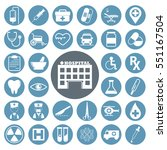 medical icons set.vector... | Shutterstock .eps vector #551167504