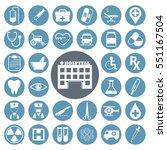 medical icons set.vector...   Shutterstock .eps vector #551167504