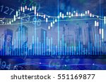 various type of financial and... | Shutterstock . vector #551169877