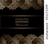 wedding invitation or card  ... | Shutterstock .eps vector #551171599
