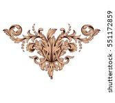 vintage baroque ornament retro... | Shutterstock .eps vector #551172859