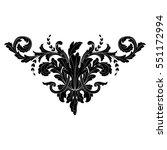 vintage baroque ornament retro... | Shutterstock .eps vector #551172994