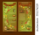 tea house cards. flyers set of...   Shutterstock .eps vector #551176219