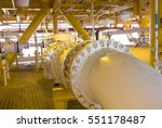 pipelines on oil and gas... | Shutterstock . vector #551178487