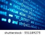 software developer programming... | Shutterstock . vector #551189275