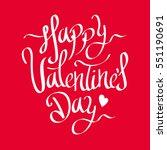 valentine's day lettering... | Shutterstock .eps vector #551190691