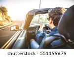 couple of lovers driving on a... | Shutterstock . vector #551199679