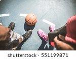 friends playing basketball  ...   Shutterstock . vector #551199871