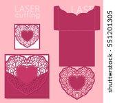 laser cut wedding invitation or ... | Shutterstock .eps vector #551201305