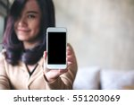 mockup image of a beautiful... | Shutterstock . vector #551203069