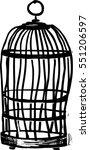 bird cage vector illustration | Shutterstock .eps vector #551206597