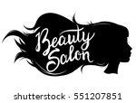 vector illustration of a black... | Shutterstock .eps vector #551207851