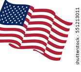 flag of usa | Shutterstock .eps vector #551213011