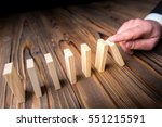 chain reaction in business... | Shutterstock . vector #551215591