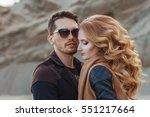 beautiful couple in love on... | Shutterstock . vector #551217664