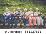 group of senior people resting... | Shutterstock . vector #551227891