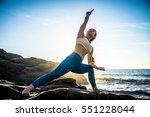 Woman Training Yoga On The...