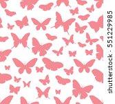 pink butterflies on a white... | Shutterstock .eps vector #551229985