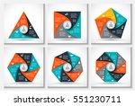 vector geometris elements for... | Shutterstock .eps vector #551230711