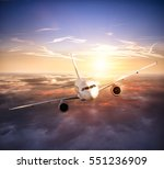 commercial airplane flying... | Shutterstock . vector #551236909