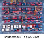 container container ship in... | Shutterstock . vector #551239525