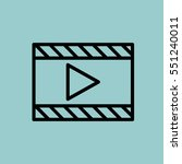 video player icon. isolated... | Shutterstock .eps vector #551240011