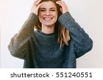 close up portrait of funny...   Shutterstock . vector #551240551