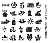 eco icons set  vector... | Shutterstock .eps vector #551242399