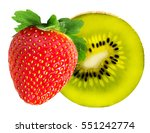 strawberry and kiwi fruits... | Shutterstock . vector #551242774