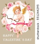 valentines day card with roses...