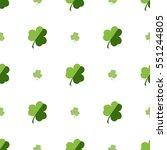 vector seamless clover pattern. ... | Shutterstock .eps vector #551244805