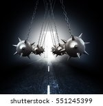 concept of overcoming... | Shutterstock . vector #551245399