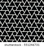 abstract geometry black and... | Shutterstock .eps vector #551246731