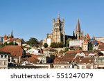 cathedral of notre dame in... | Shutterstock . vector #551247079