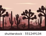 desert seamless pattern with... | Shutterstock .eps vector #551249134