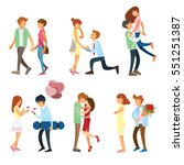 couples and people romantic... | Shutterstock .eps vector #551251387